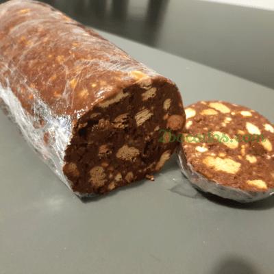 Salami de galletas-6 - 2 Bocados