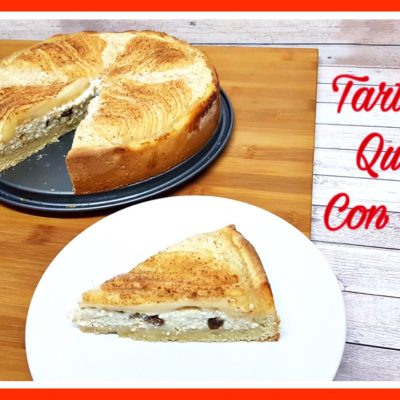 Tarta de queso con pera - 2 bocados
