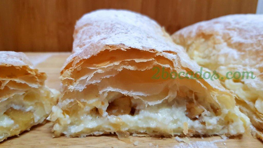 Hojaldre con manzana y crema pastelera - 2 bocados-2
