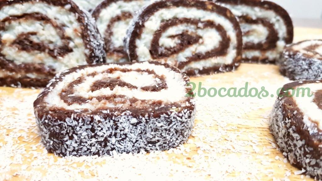 Brazo de gitano de chocolate y coco - 2 bocados -4