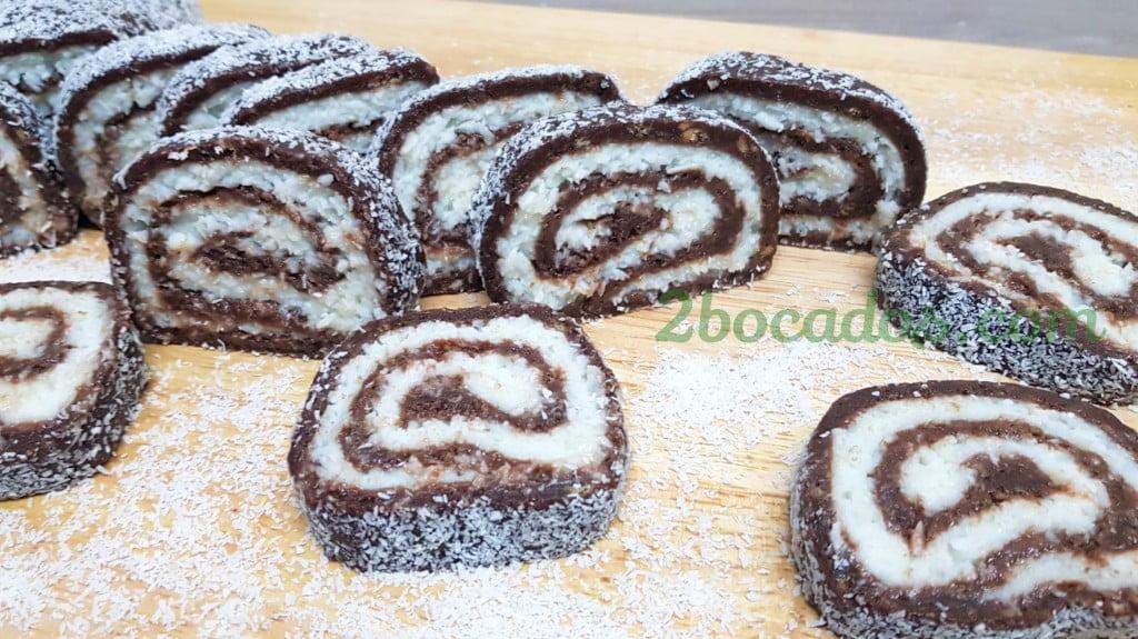 Brazo de gitano de chocolate y coco - 2 bocados -6