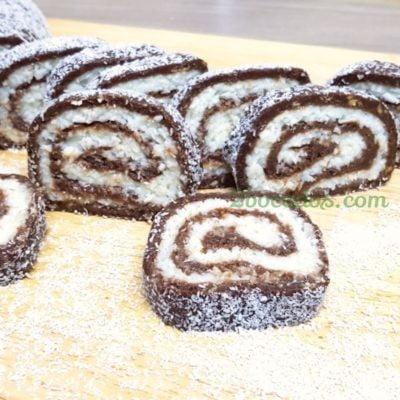 Brazo de gitano de chocolate y coco - 2 bocados -8
