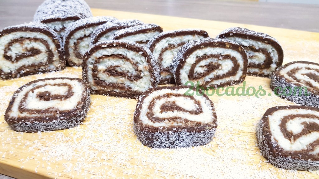 Brazo de gitano de chocolate y coco