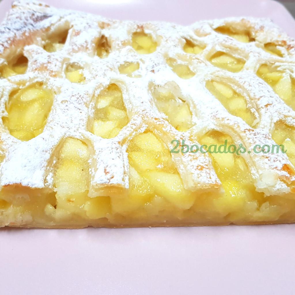 tarta de manzana con hojaldre - 2 bocados