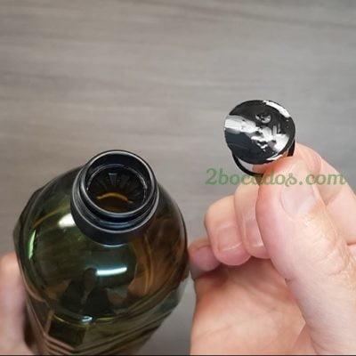para qué sirve LA ANILLA DEL TAPÓN de la botella de aceite - trucos de cocina